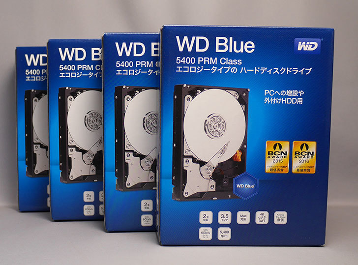 Western-Digital-WD-Blue-WD40EZRZ-RT2を4台買った1.jpg